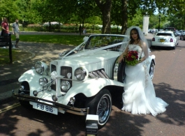 White Beauford for weddings in Edgeware